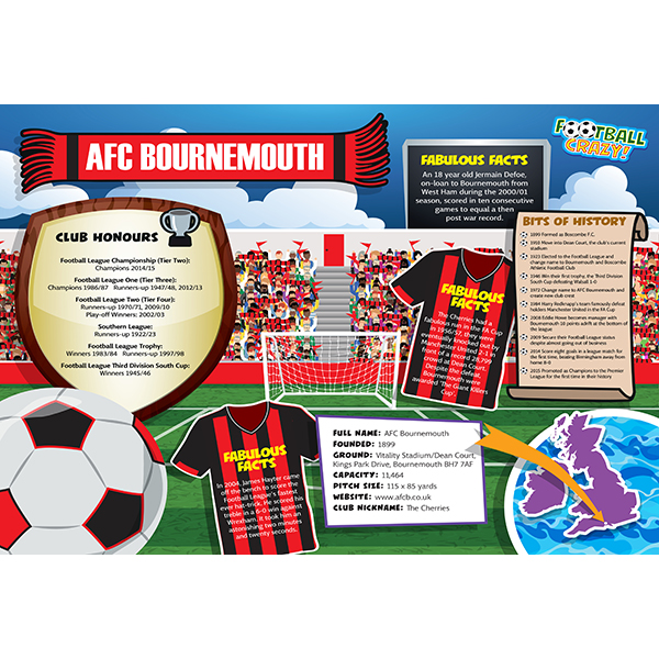 FOOTBALL CRAZY AFC BOURNEMOUTH (CRF400) Image