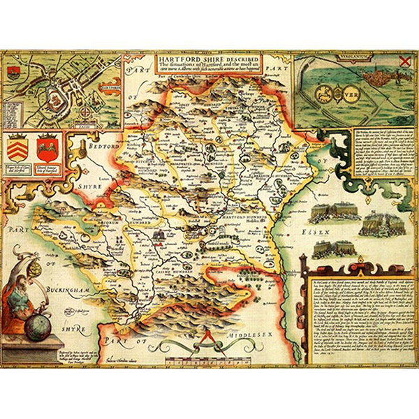 HISTORICAL MAP HERTFORDSHIRE (M4JHIST400) Image