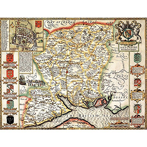 HISTORICAL MAP HAMPSHIRE (M4JHIST400)