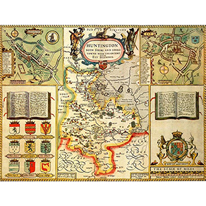 HISTORICAL MAP HUNTINGDONSHIRE (M4JHIST400)