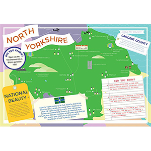 I LOVE MY COUNTY NORTH YORKSHIRE 400 PIECE